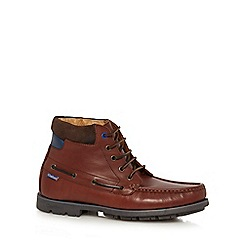 Chatham Marine - Brown leather 'Gladstone' lace-up boots