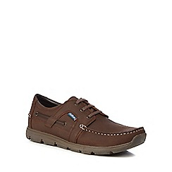 Chatham Marine - Dark brown leather 'Byron' boat shoes