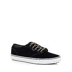 Vans - Black suede 'Atwood' lace up trainers