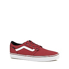 Vans - Wine red canvas 'Chapman' trainers