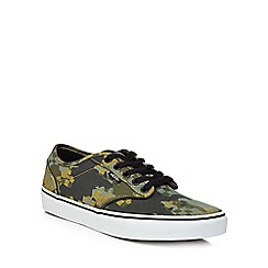 Vans - Khaki 'Atwood' lace up trainers
