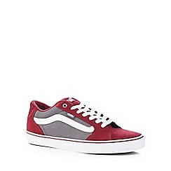 Vans - Wine red 'Faulkner' trainers