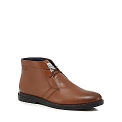 Original Penguin - Tan leather 'Lexington' chukka boots