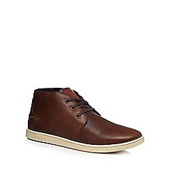 Original Penguin - Tan leather 'Love' chukka boots