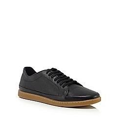 Original Penguin - Black leather 'Luper' trainers