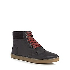 Original Penguin - Black leather 'Huntsman' boots
