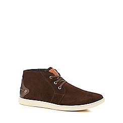 Original Penguin - Brown suede 'Love' chukka boots