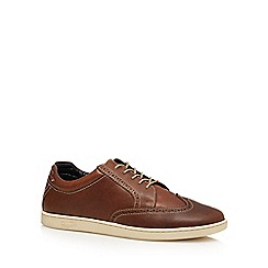 Original Penguin - Tan leather 'Loom' lace up shoes