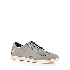 Original Penguin - Grey suede 'Loom' lace up shoes