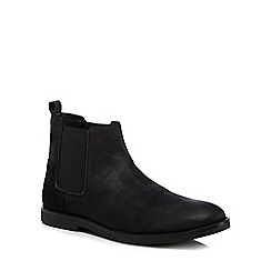 Original Penguin - Black leather 'Lesta' Chelsea boots