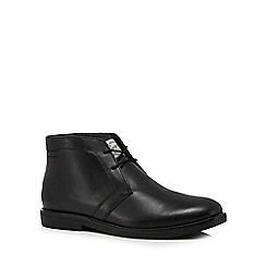 Original Penguin - Black leather 'Lexington' chukka boots
