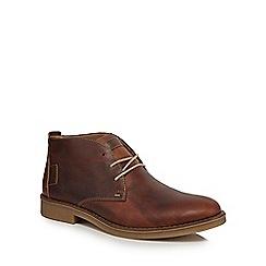 Rieker - Dark tan leather Chukka boots