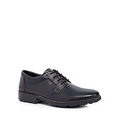 Rieker - Black leather Derby shoes