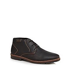 Rieker - Black leather chukka boots
