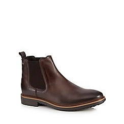 Base London - Dark brown leather 'Dalton' Chelsea boots
