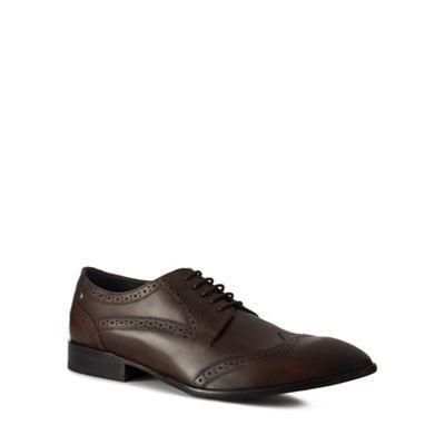Online ExclusiveBase London - Dark brown leather 'Larsson' brogues