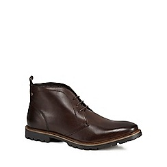 Base London - Dark brown leather 'Trojan' Chukka boots