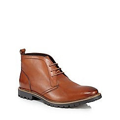 Base London - Tan leather 'Trojan' Chukka boots