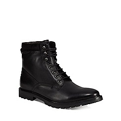 Base London - Black leather 'York' lace-up boots