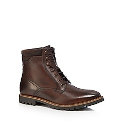 Base London - Brown leather 'York' lace up boots