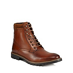 Base London - Tan leather 'York' lace-up boots