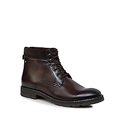 Base London - Brown leather 'Panzer' lace-up boots