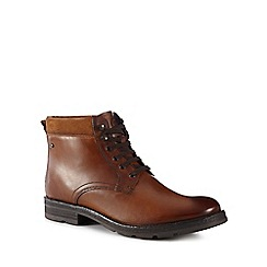Base London - Tan leather 'Panzer' lace-up boots