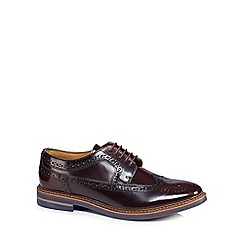 Base London - Plum leather 'Turner' brogues