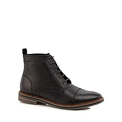 Base London - Brown leather 'Hockney' lace up boots