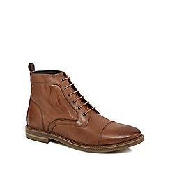 Base London - Tan leather 'Hockney' lace up boots