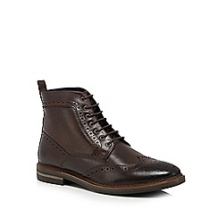 Base London - Dark brown 'Hurst' brogue boots