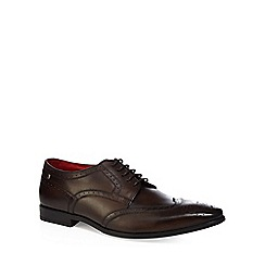 Base London - Brown leather 'Crown' Derby shoes