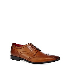 Base London - Tan leather 'Crown' Derby shoes