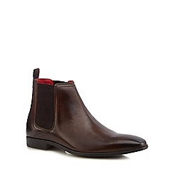 Base London - Brown leather 'Guinea' Chelsea boots
