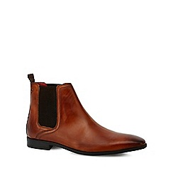 Base London - Tan leather 'Guinea' Chelsea boots