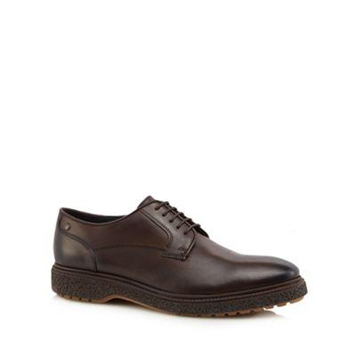 Online ExclusiveBase London - Dark brown leather 'Riot' Derby shoes