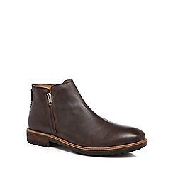Ben Sherman - Dark brown leather 'Jake' Chelsea boots
