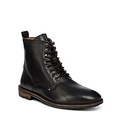 Ben Sherman - Black leather 'Earl' lace up boots
