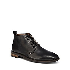 Ben Sherman - Black leather 'Ellington' chukka boots