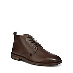 Ben Sherman - Brown leather 'Ellington' chukka boots