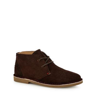 Online ExclusiveBen Sherman - Brown suede 'Logan' desert boots