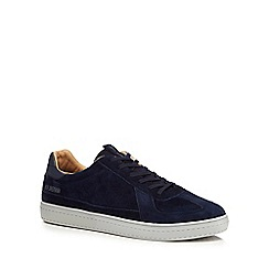 Ben Sherman - Navy suede 'Heart' trainers