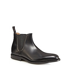 Loake - Black leather 'Ascot' Chelsea boots