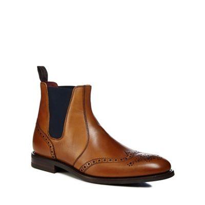 Loake - Tan leather 'Hoskins' Chelsea boots