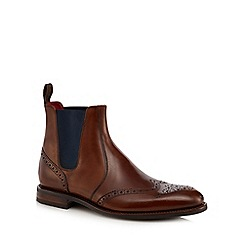Loake - Brown leather 'Hoskins' Chelsea boots