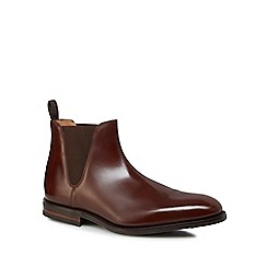 Loake - Brown leather 'Ascot' Chelsea boots