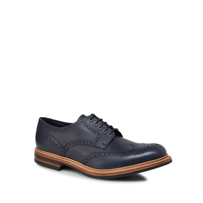 Online - ExclusiveLoake - Online Navy leather 'Worton' brogues 4d3921