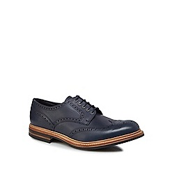 Loake - Navy leather 'Worton' brogues
