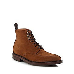 Loake - Brown suede 'Anglesey' lace-up boots