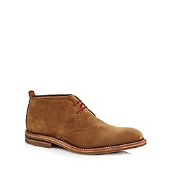 Loake - Brown suede 'Sandown' Goodyear welted sole chukka boots